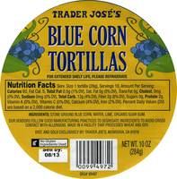 Blue Corn Tortillas - 10oz (284g)